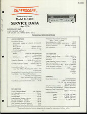 Original Factory Superscope/Marantz R-340B Stereo Receiver Service Data Manual