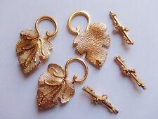 2 set chiusure AT UVA  colore oro x bracciale,collana bigiotteria 37x23mm 25x8mm