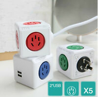 Smart Home PowerCube Sockets Power Strip USB Port Adapter Multi Switched Socket
