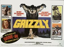 "GRIZZLY  1976 repro uk quad CINEMA poster UK 30x40"" HORROR"