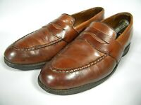 Allen Edmonds Fairmont Men Sz 9 D Brown Penny MocToe Leather Loafers EUC 317192