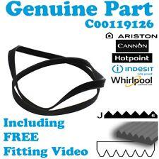 Indesit Genuine Washing Machine Drive Belt 1201 1198 J6 C00119126