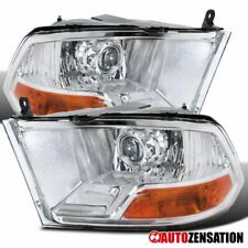 For Dodge Ram 2009-2018 1500 2010-2017 2500 3500 Clear Projector Headlights Pair