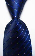 New Classic Striped Blue Pink Yellow JACQUARD WOVEN 100% Silk Men's Tie Necktie