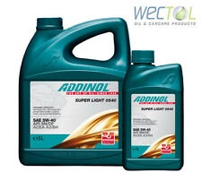 Addinol SUPER LIGHT 0540 5W40 5W-40 1x5 plus 1x1Liter (6 L) Made in Germany
