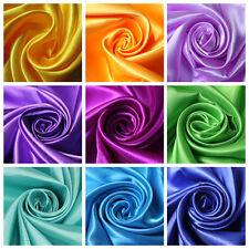 1Yrd x150cm Satin Faux Silk Fabric DIY Curtain Gift Box Lining color 00-12 F*