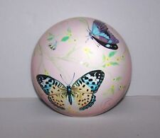 Vibrant Butterfly Butterflies Half Dome Glass Paperweight #1 Muted Pink