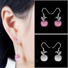 Opal Fashion Silver Plated Ear Hook Dangle Drop Earrings Small Apple
