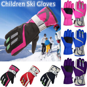 Winter Waterproof Warm Children Boys Girls Gloves Ski Kids Mitten Snow Outdoor