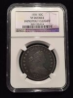 1806 Pointed 6 Stem Draped Bust Half Dollar NGC VF Very Fine Overton O Variet