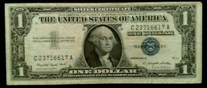 USA ONE DOLLAR BANKNOTES -SERIES 1957A *C23716617A* SILVER CERTIFICATE-NOTES X 1