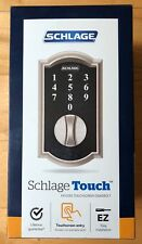 Schlage Touch Camelot Satin Nickel Electronic Deadbolt w/ Touchscreen Keypad New