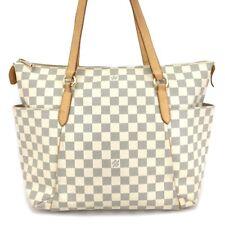 100% Authentic Louis Vuitton Damier Azur Totally MM Shoulder Tote Bag /oHDH