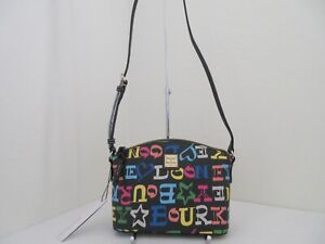 NWT AUTH DOONEY & BOURKE DOODLE COLLECTION SIKI SIGNATURE CROSSBODY BAG-$158