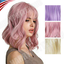 Lady Girl Womens Wig Women's Long Curly Wavy Full Hair Wigs Cosplay Party US