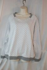 Alfani Sleep Night Shirt Quilted Raglan Sleeve Pajama Top Gray Diamond 2XL XXL