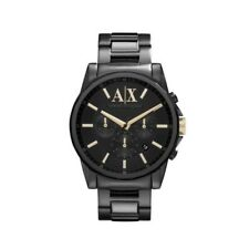 ARMANI EXCHANGE AX2094 Banks All black Gold Accent Chronograph 45MM BRAND NEW