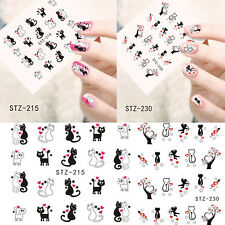 Valentines Nail Art Water Decals Stickers Love Hearts Cats Cherubs Love Hearts