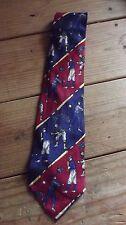 TOMMY HILFIGER Multi color Vintage Baseball Classic Italian Silk Necktie Tie