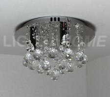 3 Luz Hanna Cristal & Cromo Halógeno Luz De Techo (820857) Exclusivo