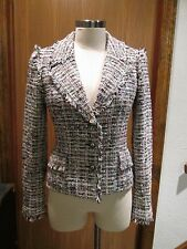 CHANEL Pink Fitted Jacket Size 38