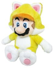 "Genuine 1371 Little Buddy Super Mario 10"" Neko Cat Mario Plush Stuffed Doll Toy"