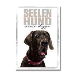 Deutsche Dogge Seelenhund Dog Schild Spruch Türschild Hundeschild Warnschild Sou