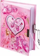 Kinder Tagebuch Ballettschuhe mit Schloss Poesiealbum Mädchen Kindertagebuch Neu