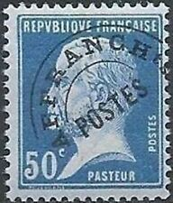 "FRANCE PREOBLITERE TIMBRE STAMP YVERT 68 "" TYPE PASTEUR 50c BLEU "" NEUF xx LUXE"