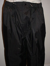 BASS PRO SHOP MEN'S PACKABLE FISHING PANTS XL BLACK NYLON LINED LKNW!