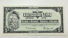 1974 Canadian Tire 5 Five Cents CTC-S4-B-HN Circulated Money Banknote E137