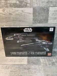 New BANDAI Star Wars 1/144 X-WING STARFIGHTER & Y-WING STARFIGHTER Model Kit