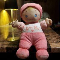 "11"" VTECH PINK I LOVE YOU BLONDE BABY DOLL STUFFED ANIMAL PLUSH TOY"
