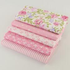 5pcs Tela de algodón Patrones de costura muñeca bebé ropa de tela
