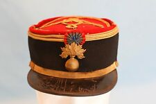 WWI or Earlier French Grenadere Army Officer Hat Kepi with Cockade