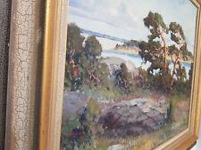 Öl Gemälde Landschaft Wald See Oil excellente Künstlerarbeit