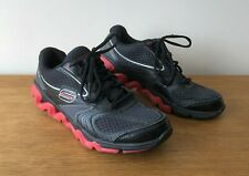 SKETCHERS SHAPE UPS MENS BLACK AND RED TRAINERS UK SIZE 6.5 EUR 40 US 7.5