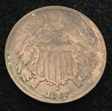 1867 2C Two Cent Piece #
