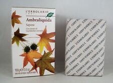 L'ERBOLARIO Jabón perfume AMBRALIQUIDA 100 g en caja delicada Ámbar vainilla
