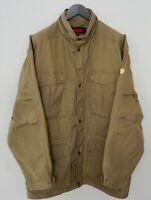 Men Fjallraven G-1000 Jacket Brown Breathable Zippered XL Hunting Gear ZLA749