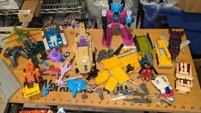 Transformers G1 G2 + other figures mixed lot with figures weapons etc BIG LOT!!!