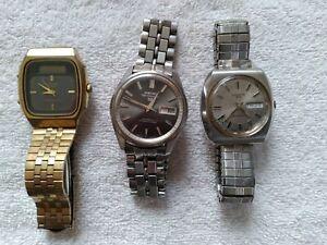 Seiko Croton Vintage Watches Rare lot