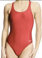 NWT Women's Speedo Solid Super Pro, Pro LT Swimsuit Red Size 6