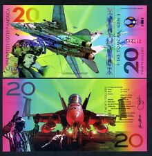 USA, $20, Private Issue Polymer Banknote, 2017, Fighter Jet, F-14b, Navy