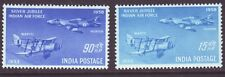 India 1958 SC 300-301 MH Set Air Force Silver Jubilee