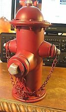VINTAGE STYLE  METAL RED HYDRANT BANK  FIREFIGHTER  FIRE DEPARTMENT FDNY FIREMEN