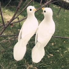 Mini Artificial Foam Feather Bird Wedding Decorative Doves White Bird Home Decor
