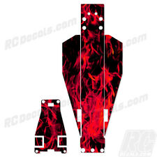 Traxxas Rustler Or Bandit Chassis Protector Flames - Red TRA3722