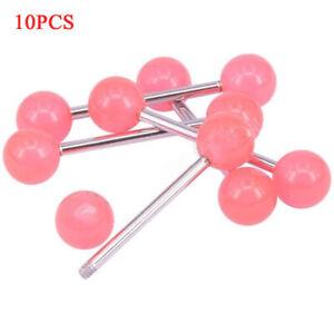 10PCS/Set Glow In The Dark Luminous Barbell Tongue Rings Body Piercing Jewelry