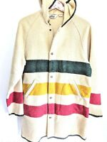Vtg Woolrich Coat Hudson Bay Blanket Womens with Hood No Size Tag Very RARE